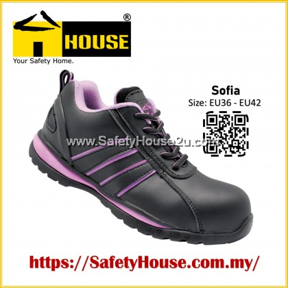 HOUSE SOFIA SAFETY SHOES C/W COMPOSITE TOE CAP & ARAMID MID SOLE