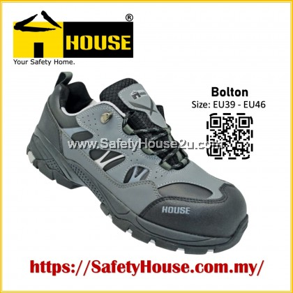 HOUSE BOLTON SAFETY SHOES C/W COMPOSITE TOE CAP & ARAMID MID SOLE