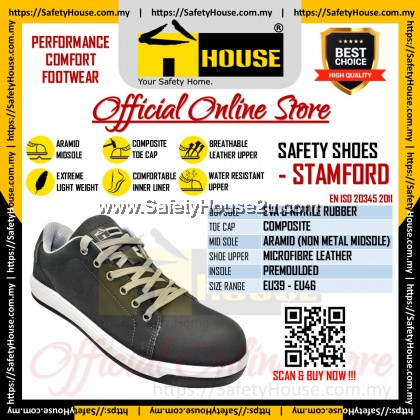 HOUSE STAMFORD SAFETY SHOES C/W COMPOSITE TOE CAP & ARAMID MID SOLE