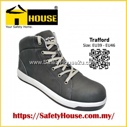 HOUSE TRAFFORD SAFETY SHOES C/W COMPOSITE TOE CAP & ARAMID MID SOLE
