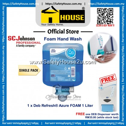 Deb Stoko Refresh® Azure FOAM Hand Wash 1 Liter